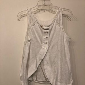 Free People Tops - Free People white top size M